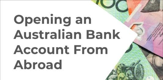 Open an Australian bank account online