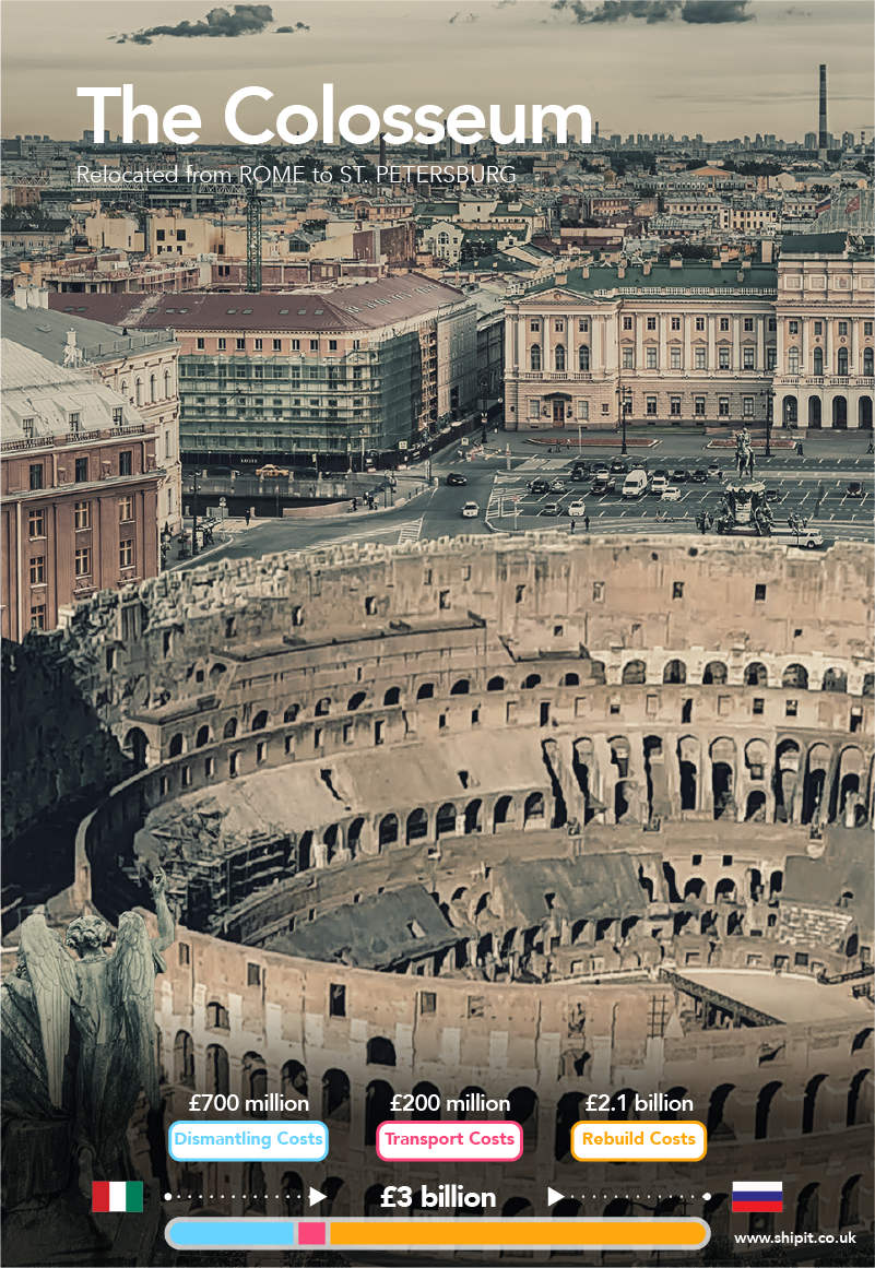 The Colosseum relocated from Rome to St. Petersburg
