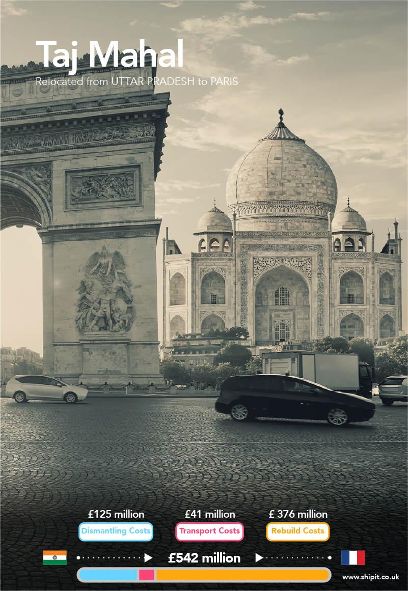 Taj Mahal relocated from Uttar Pradesh to Paris