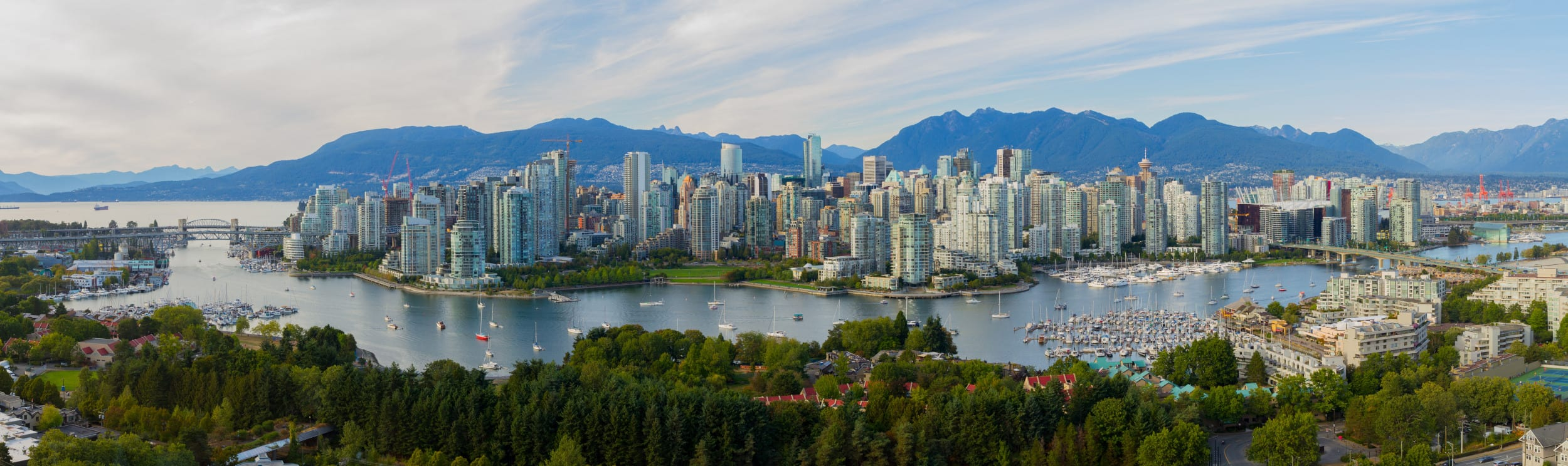 Panoramic view of Vancouver, Canada