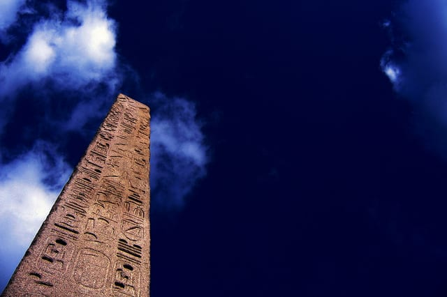 Cleopatra's needle as it looks today