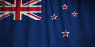 Ruffled New Zealand Flag