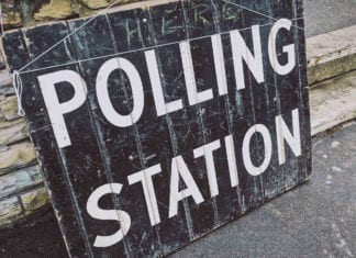polling station, UK