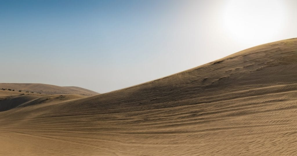 Sand Dunes in the desert of Doha, Qatar - International Removals to Qatar from the UK