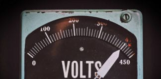 Vintage electricity meter