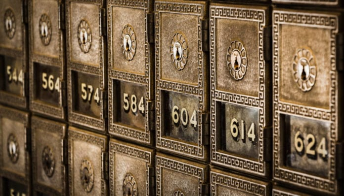 Traditional safety deposit boxes, USA