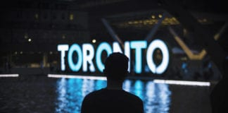 Toronto illuminated sign