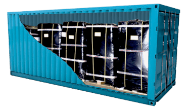 International removals pallets inside container