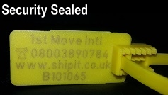 Close up of 1st Move security seal.