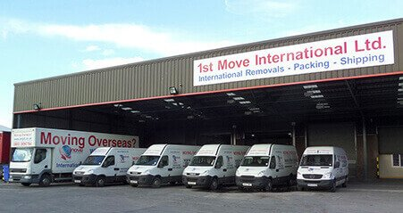 1st Move International Removals Warehouse